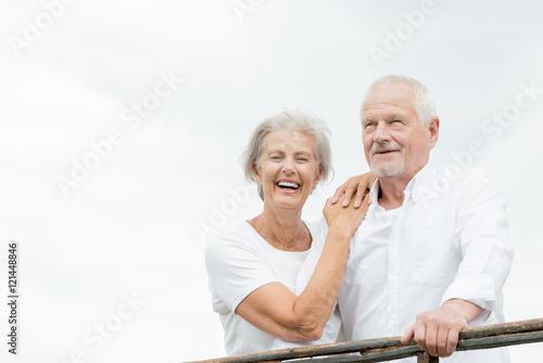 Plakat Szczęśliwa para starszych