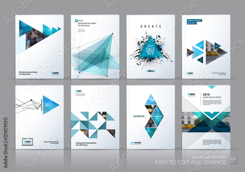 Fototapeta Brochure template layout, cover design annual report, magazine,  obraz