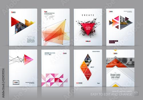 Fotografía Brochure template layout, cover design annual report, magazine,
