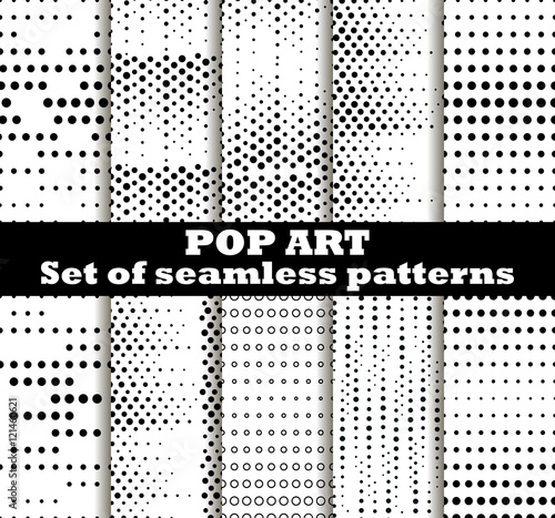 Photo  Dotted, Pop Art seamless pattern background