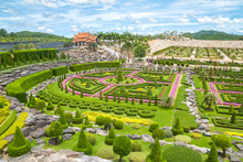 French Style Park In Nong Nooch Botanical Tropical Garden, Thailand