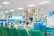 hospital interior blur background 3