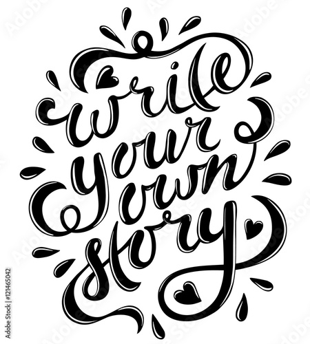 Write your own story Wallpaper Mural