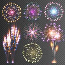Festive Firework. Abstract Vec...