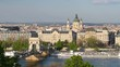 View of Budapest in a spring day