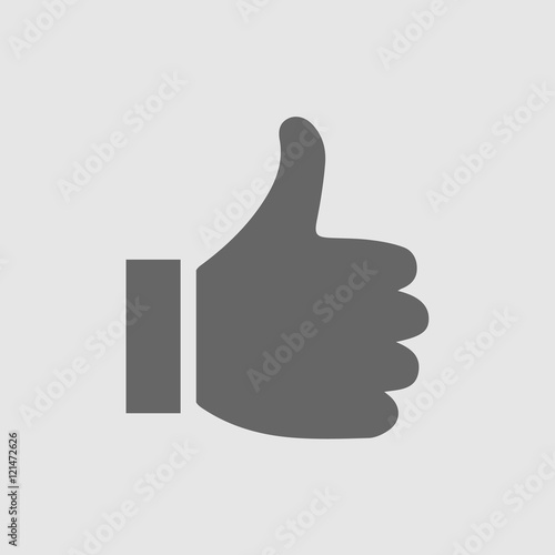 thumb up vector logo icon like simple isolated sign symbol thumbs rh stock adobe com thumbs up vector png thumbs up vector graphic