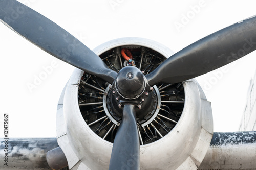 Photo Engine and propeller of a vintage aircraft