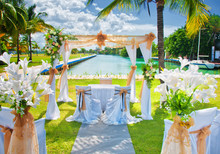 Set Up For A Tropical Destination Wedding In Marina Hemingway, H