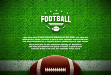 American Football Top View On ...