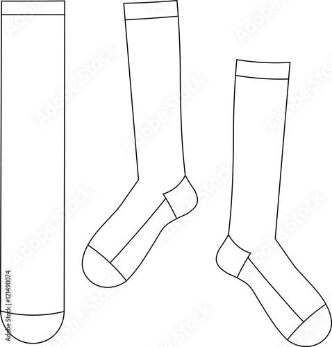 podkolanówki - szablon - fototapety na wymiar