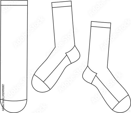 skarpety do łydki - szablon - fototapety na wymiar