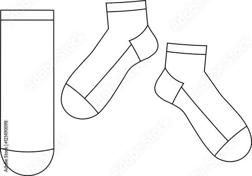 krótkie skarpety - szablon - fototapety na wymiar