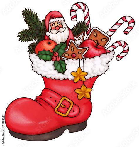 Nikolaus nikolausstiefel stiefel weihnachten kaufen sie diese illustration und finden sie - Grafik weihnachten kostenlos ...