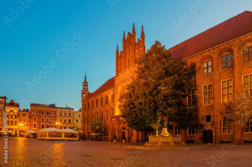 Obrazy na płótnie Canvas Torun, Poland: old town, city hall.
