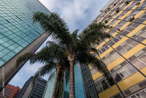 Modern Architecture Office Buildings in Paulista Avenue in Sao Paulo