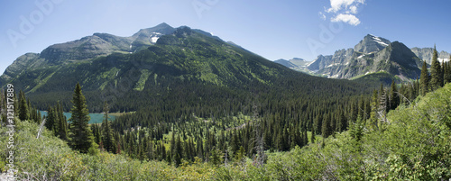 Grinnell Glacier Trail Panoramic Canvas-taulu
