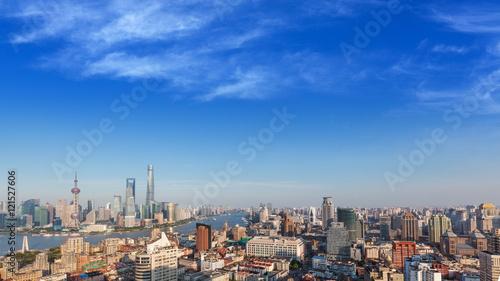 Staande foto Milan Shanghai city skyline