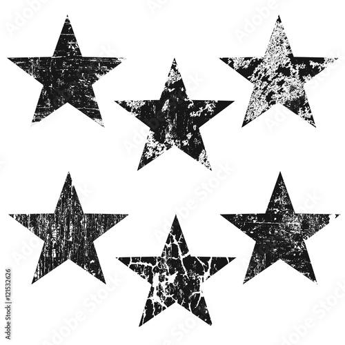 Obraz Grunge stars on white background - fototapety do salonu
