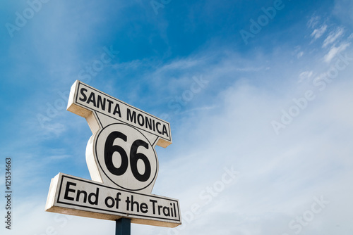 Keuken foto achterwand Route 66 sign of route 66 at santa monica