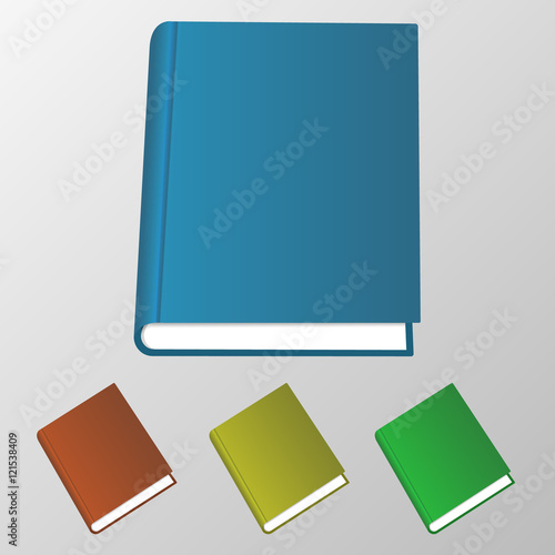 Isolated 3d Books Illustration Blank College Symbols Of Knowledge