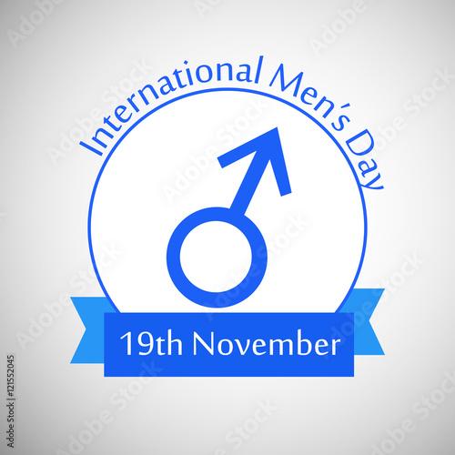 Illustration Of Mens Symbol For International Mens Day Buy This