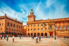 Italy Piazza Maggiore In Bolog...
