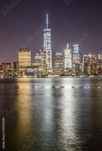 Foto op Aluminium New York One World at Night