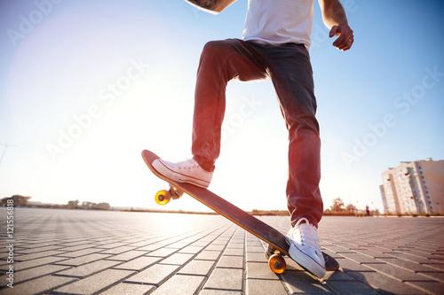 Fotografija  skateboarder on a skate