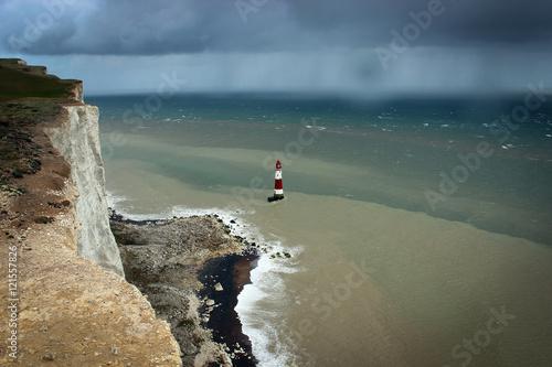 Fotografie, Obraz  Lighthouse, Seven Sisters national park, England