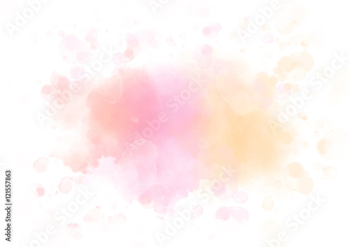 Fototapeta Colorful watercolor splash abstract background for textures obraz