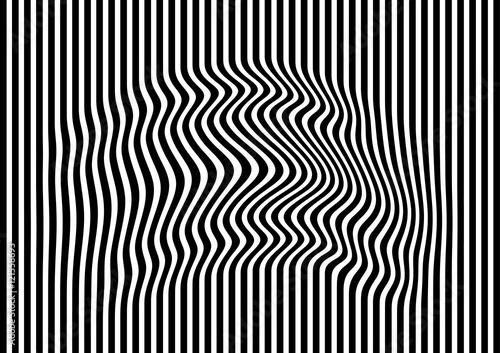 Plakat Op sztuki abstrakcjonistyczna geometryczna deseniowa czarny i biały wektorowa ilustracja