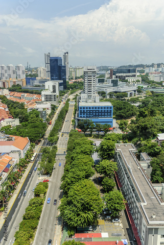 Photo  general urban sight of the city of Singapore