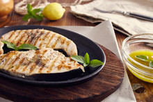 Grilled Swordfish Slices In A ...