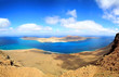 Panorama of the island of La Graciosa, northern of lanzarote