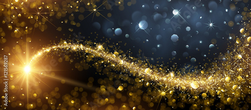 Fotografia  Christmas background with Gold Star