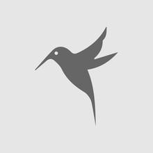 Hummingbird Vector Icon. Bird ...
