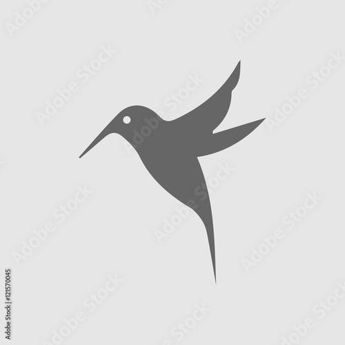 hummingbird vector icon bird simple isolated sign silhouette