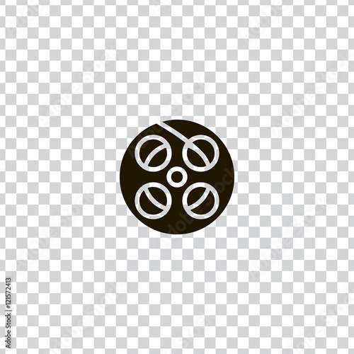 Valokuva  Film reel icon vector, clip art