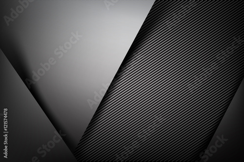 Fototapeta Abstract background dark with carbon fiber texture vector illust obraz