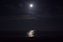Ocean Beneath The Moonlit Sky