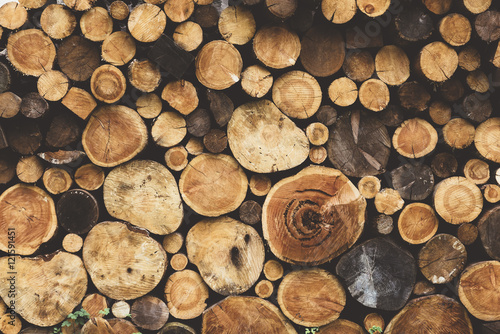Türaufkleber Holz firewood wood texture