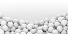Golf Balls Background. 3d Illustration