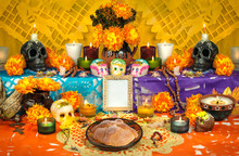 Day Of The Dead Altar Yellow