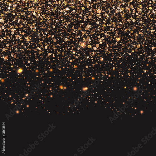 Gold confetti background Wallpaper Mural
