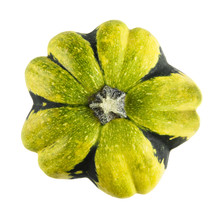 Green And Yellow Gourd Isolated