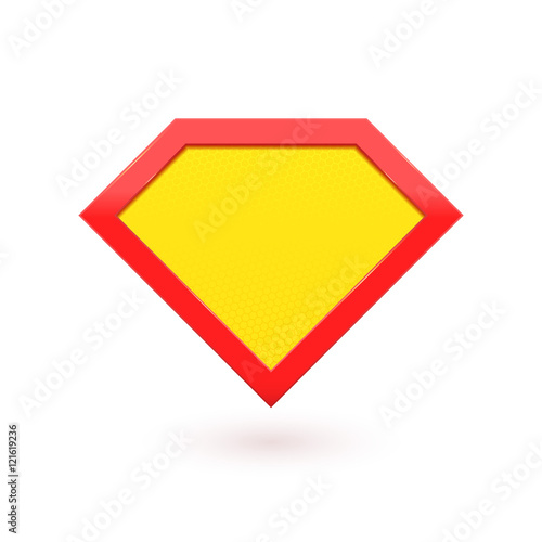 Super hero comic character label emblem Tablou Canvas
