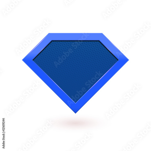 Fotografie, Tablou  Super hero comic character label emblem