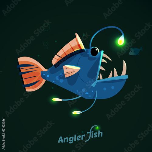 Cuadros en Lienzo angler fish. character design - vector