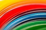 Fototapeta Rainbow - Kolorowa tęcza z kartek papieru