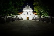 Saint John Of Nepomuk Catholic Church In Zwierzyniec, Poland At Night